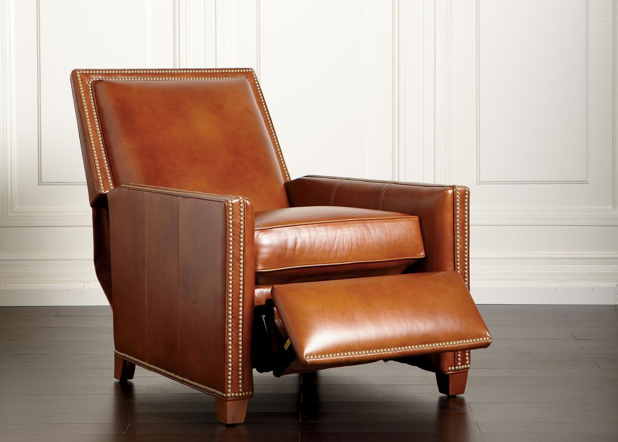 Buy Ethan Allenu0027s Randall Leather Recliner Or Browse Other Products In  Recliners.