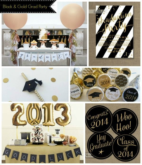 Black And Gold Graduation Party Graduation Party Gold