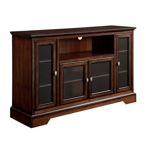We Furniture Highboy Wood Tv Stand 52 Inch Antique Brown We Furniture Http Www Amazon Com Dp B00ffu9nzi Ref C Highboy Tv Stand Tv Stand Wood Tv Stand Brown