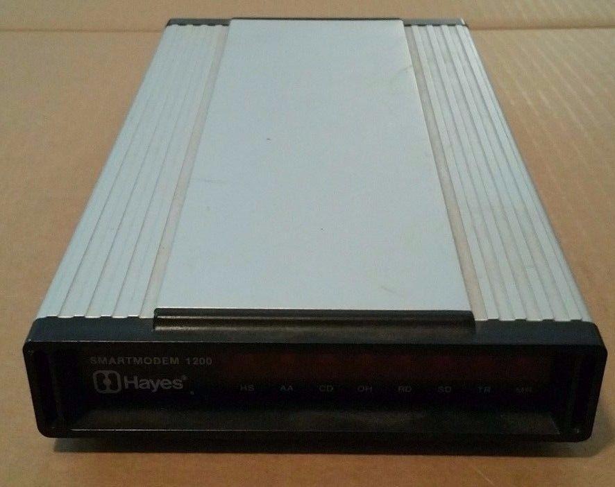 Hayes 1200 External SmartModem 1200 Baud Modem NO POWER
