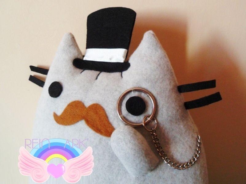 Plush Mustache Pusheen the Cat von Rein Ark auf DaWanda.com