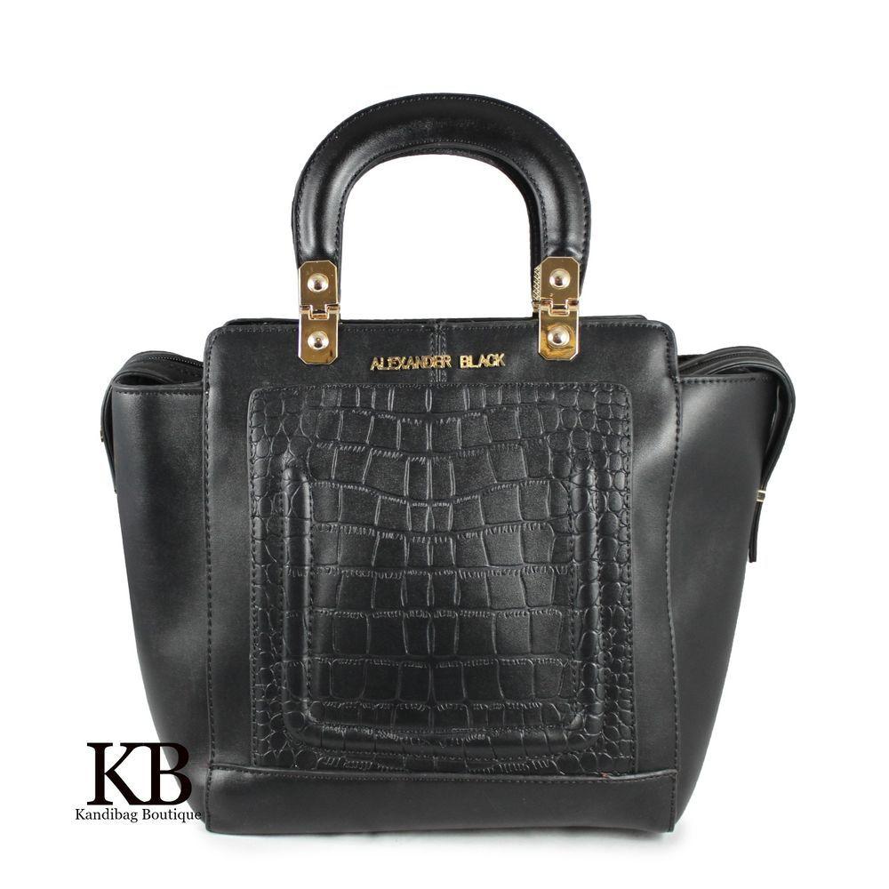 Black Quilted Shoulder Bag Womens Designer Alexander Handbag Satchel Tote In Clothes Shoes