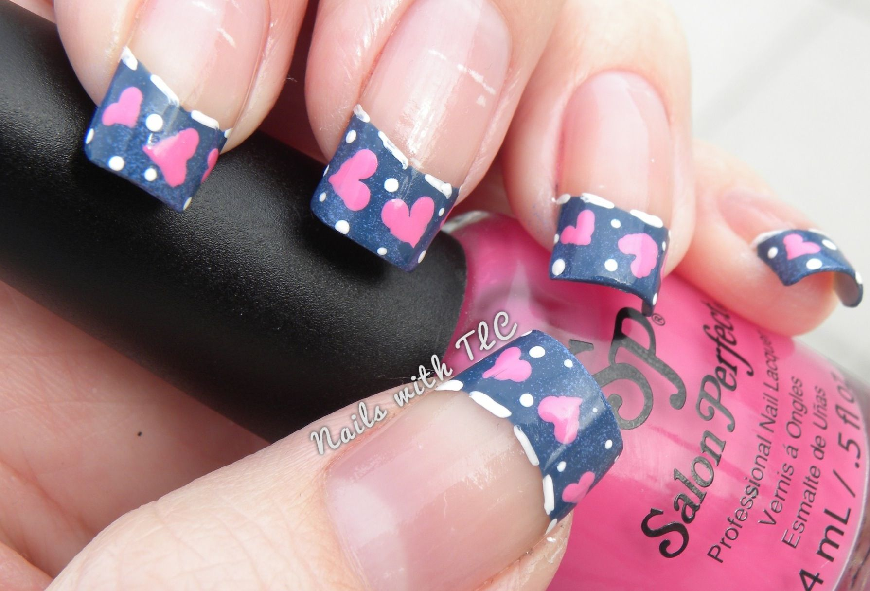 Denim Valentine Nail Art By Tawnee L Cordova Follow Me On