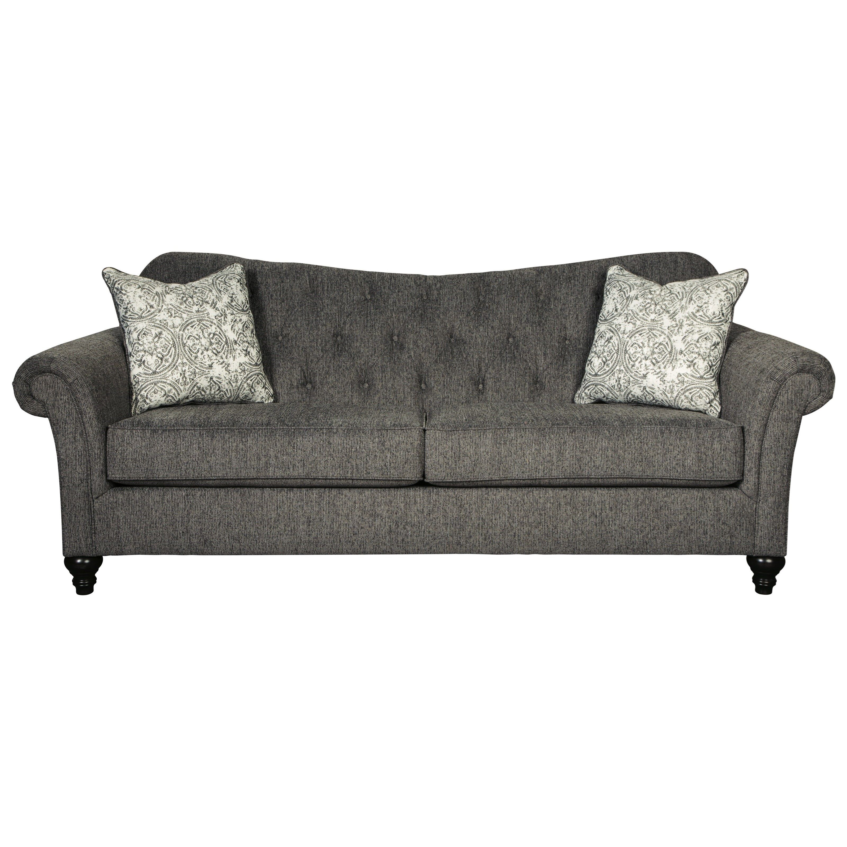 Best Praylor Traditional Sofa With Tufted Sweetheart Back By Benchcraft By Ashley Furniture Sofa 400 x 300