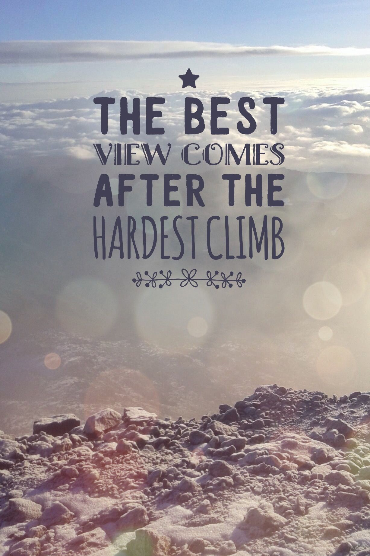 View Quotes The Best View Comes After The Hardest Climb  Mountains Quote