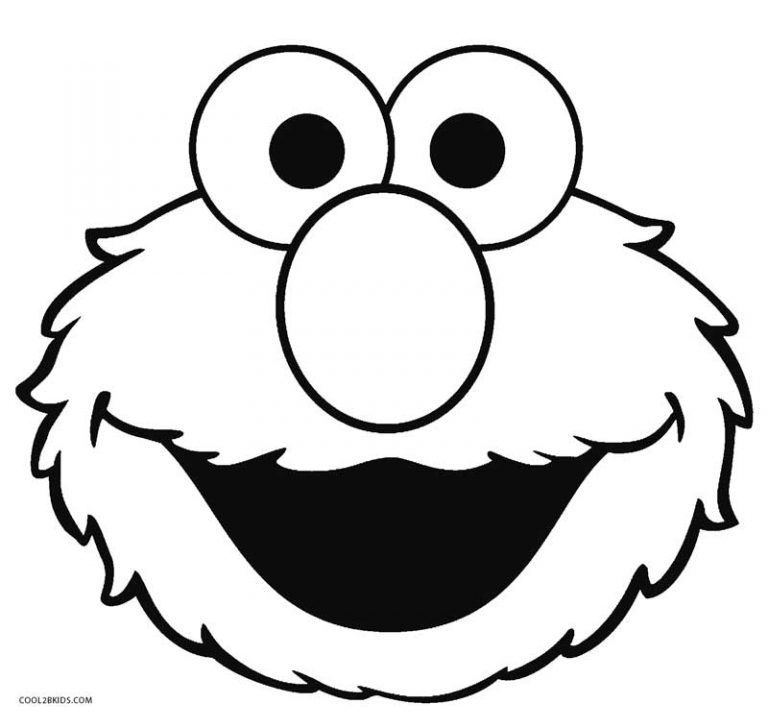 Elmo Face Coloring Pages Elmo Pinterest Elmo Sesame streets