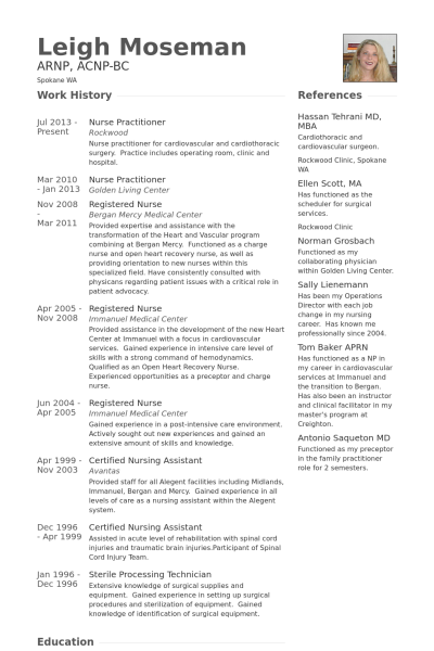 Cv Template Nurse Practitioner Cvtemplate