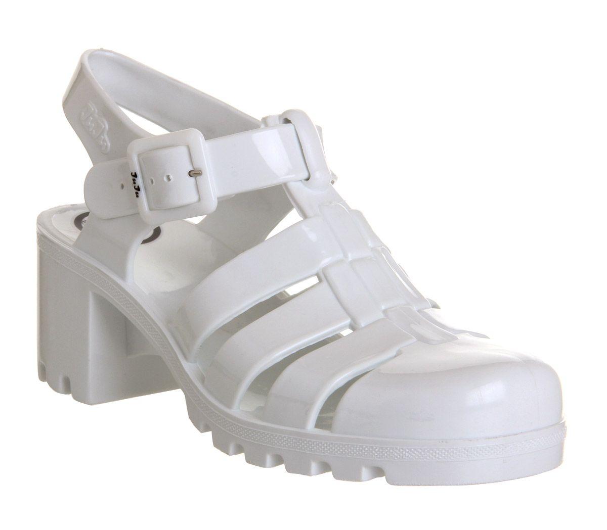 JuJu Babe Hi Jelly Shoes White - Sandals