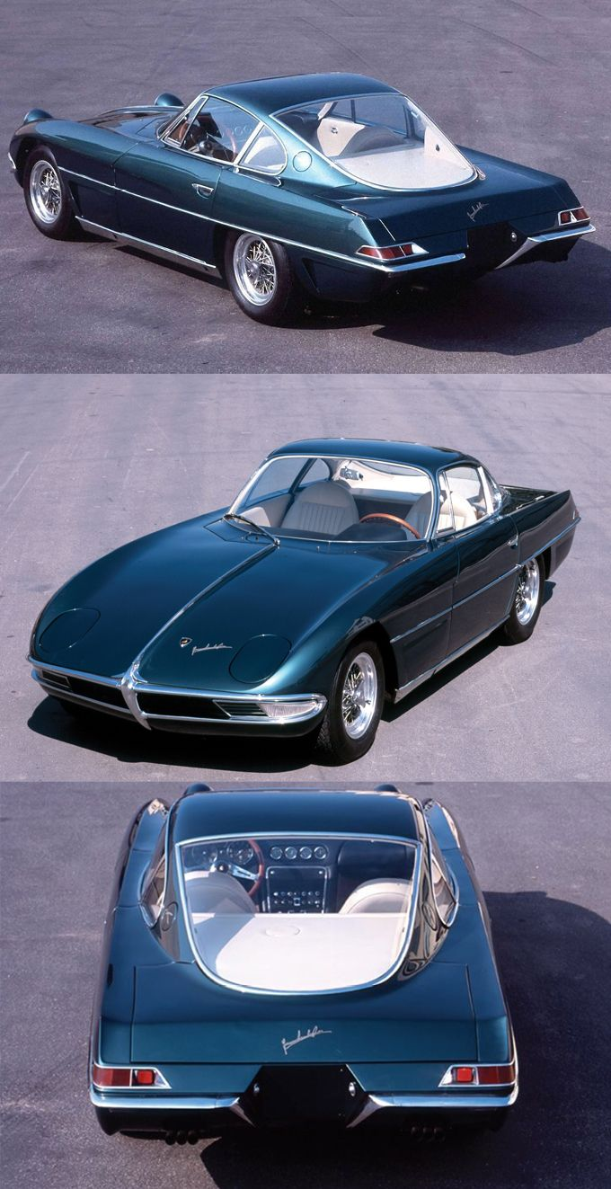8e45cbe525d 1963 Lamborghini 350 GTV   1st prototype   Franco Scaglione   342hp 3.5l  V12   green   Italy   17-351