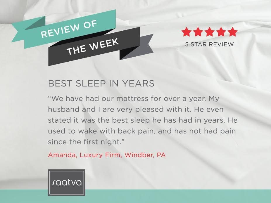 We Have Had Our Mattress For Over A Year My Husband And I Are Very Pleased With It He Even Stated It Was The Best Sleep He Has H Mattress Saatva