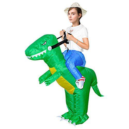 Inflatable Dinosaur Costume Fancy Dress Cosplay Piggyback Cloth Ride On Costume