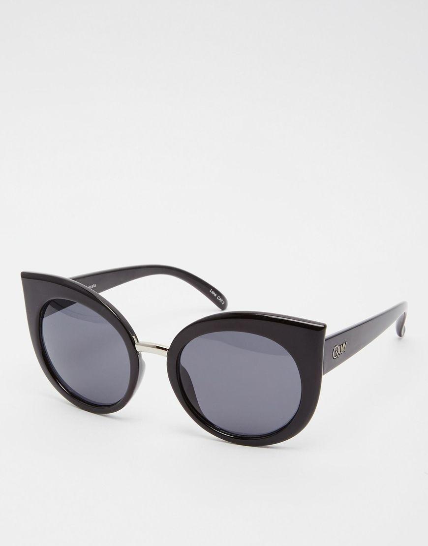 Quay Australia - Fleur - Lunettes de soleil yeux de chat - Noir TDrwbAbPoW