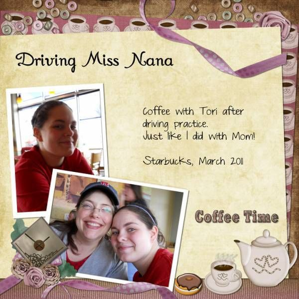 Coffee after permit-driving Layout with Up All Night by Designs by Darlene