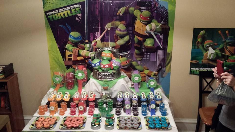 Ninja Turtle Candy Table Tmnt Birthday Ninja Turtle Party Tmnt Party