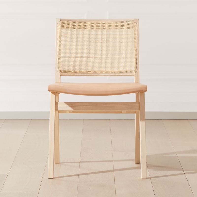 Claude Cane And Leather Dining Chair Cb2 In 2020 Leather