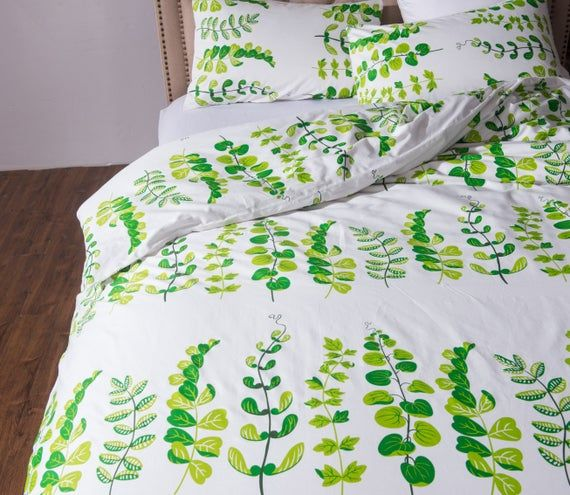 Photo of Fresh Leaves Holiday Style Quilt Cover Printing 100%Cotton | Etsy