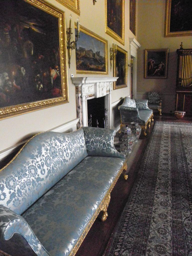 Kedleston Hall Sofas In The Music Room Hall Sofa Hall Interior Hall House