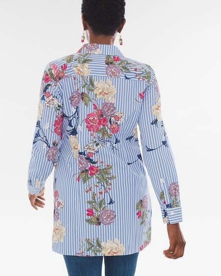 4274cc6708f Cotton Floral Striped Shirt in 2019 | Products | Shirts, Cotton, Floral