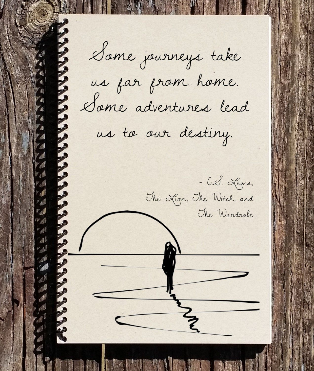 Photo of CS Lewis Quote – Some Roads Lead Us To Our Destiny – The Lion The Witch The Wardrobe – CS Lewis Note
