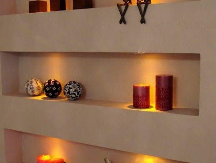 1001 id es comment d corer vos int rieurs avec une niche murale escalier living room decor. Black Bedroom Furniture Sets. Home Design Ideas