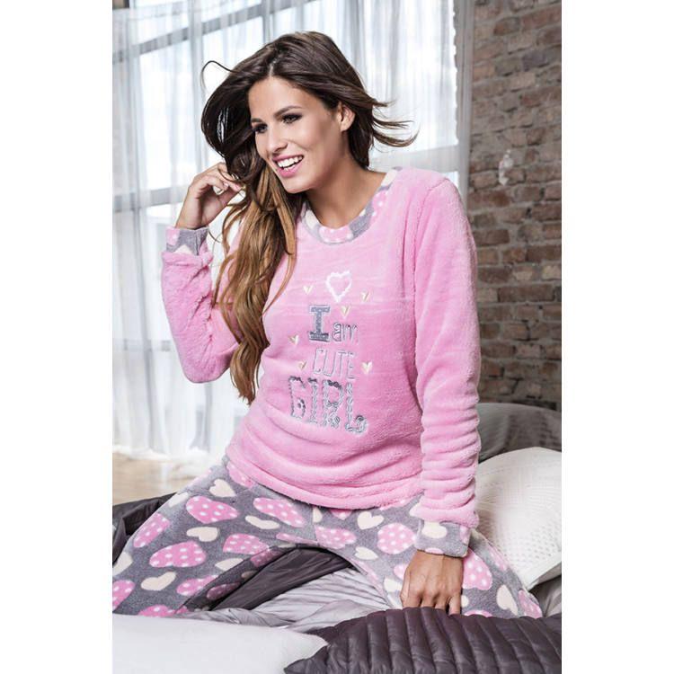 Poppy pizsama Nice Cute Girl szürke-pink-ekrü  fda686150e
