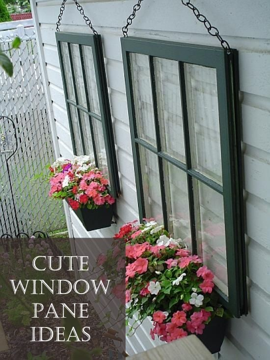 Cute Window Pane Ideas And Tutorials Window Planters Diy Backyard Backyard