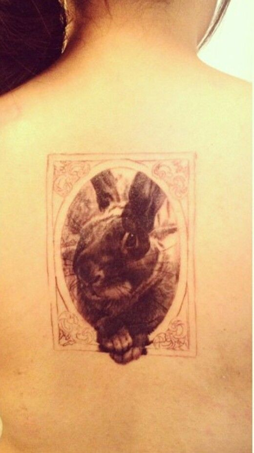Bunny Tattoo in vintage frame - my cousin\'s tattoo. | Misc. | Pinterest