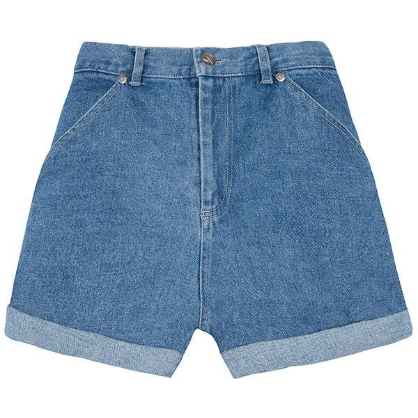 The Fifth The Waterfront Denim Short (555 NOK) ❤ liked on Polyvore