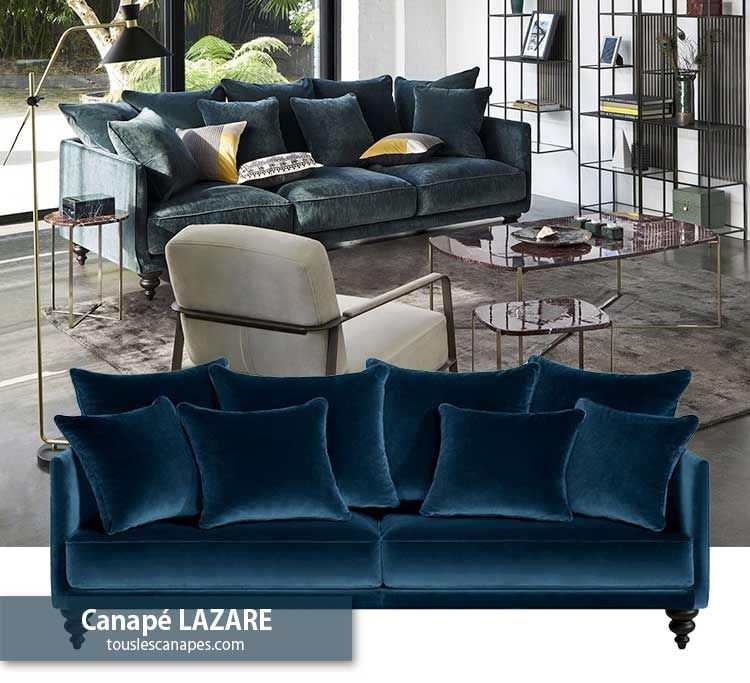 Canape Bleu 20 Modeles Pour Vous Inspirer Et Decorer Votre Salon Canape Bleu Canape Velours Bleu Canape Bleu Petrole