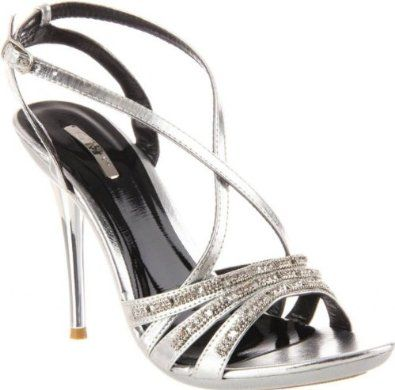 £3400 shoehorne ocean10  womens silver strappy high