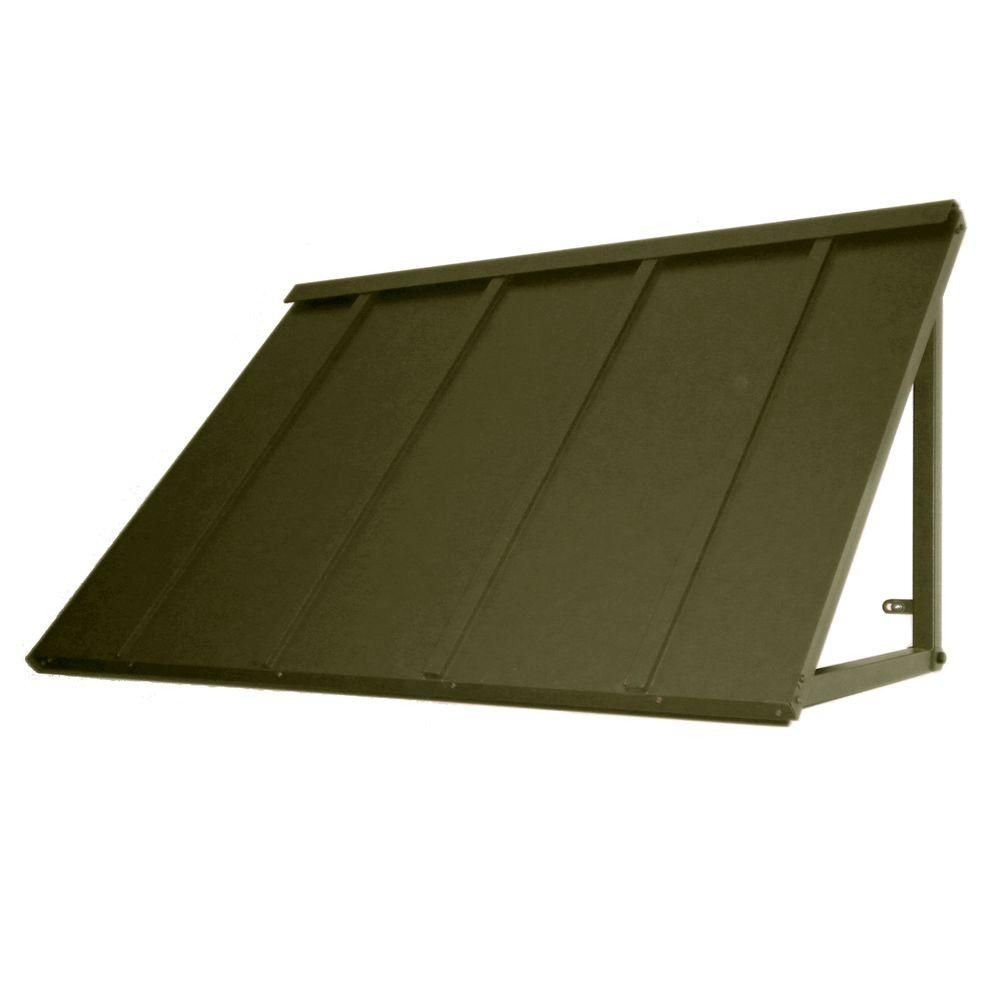 Beauty Mark 3 6 Ft Houstonian Metal Standing Seam Awning 44 In W X 24 In H X 36 In D In Olive Green In 2019 Products Metal Awning Window Awnings M