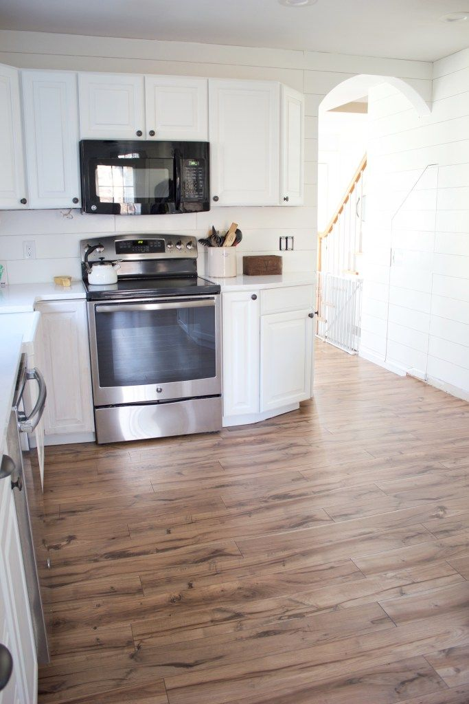 Kitchen Progress Pergo Flooring Before And After Future