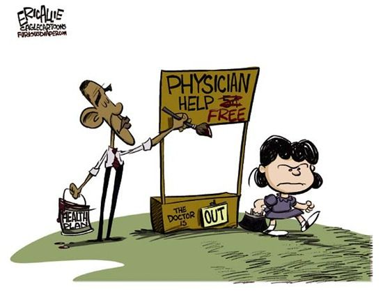 Image result for obama care expensive cartoons
