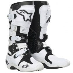 Tech White Alpinestars MotocrossFashion Bottes 10 DH9E2I