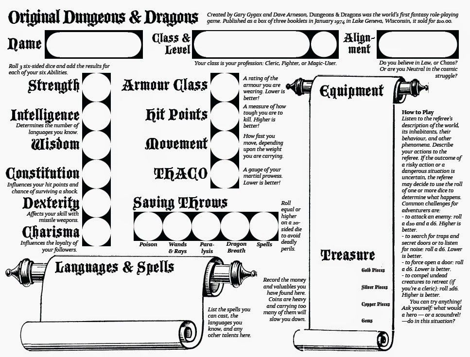 Blog of Exalted Deeds: OD&D character sheet for new