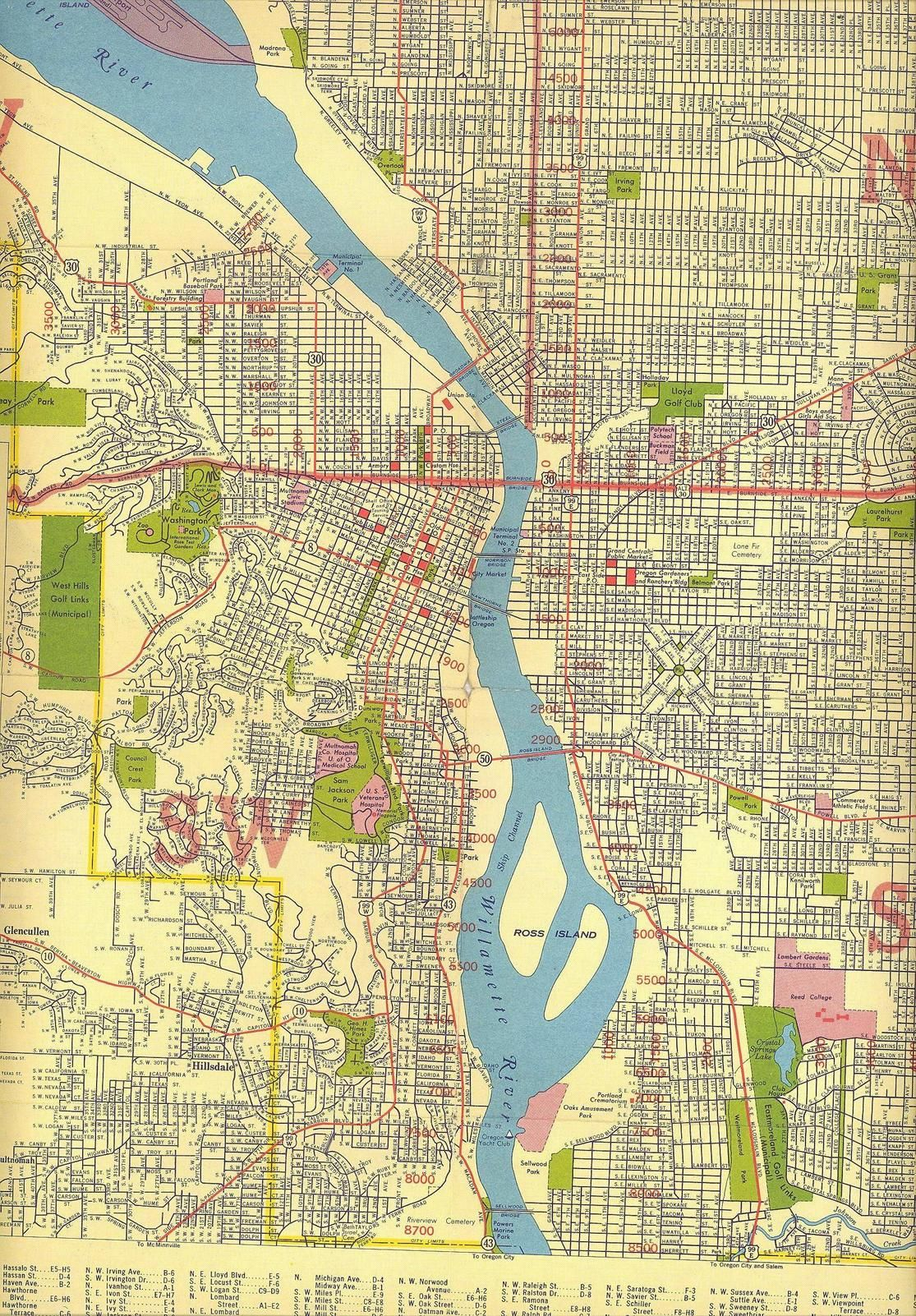 portland oregon city map Map Of Portland Oregon C 1940 Oregon Map Portland Map Oregon portland oregon city map