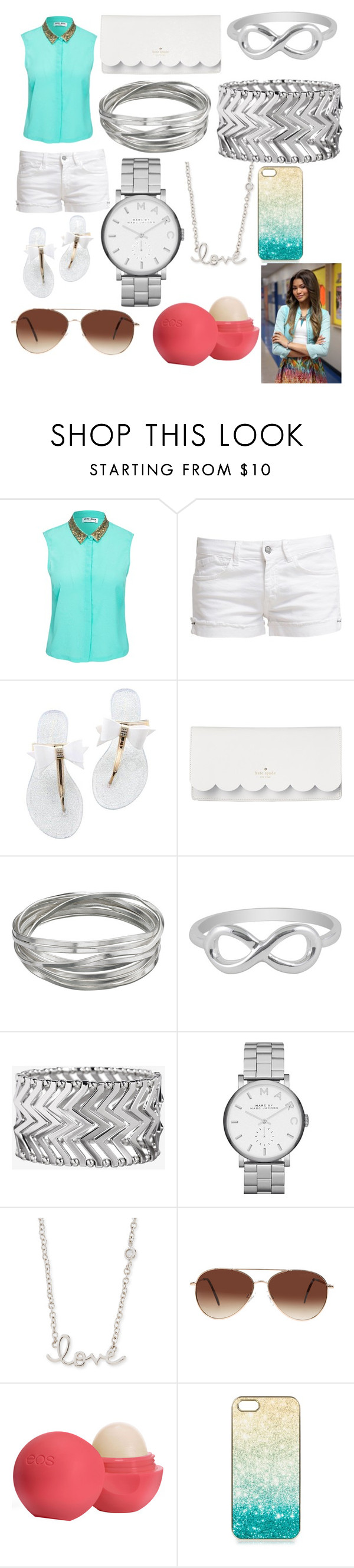 """""""CUTE OR NAW??!!"""" by sanyhacobb123 ❤ liked on Polyvore featuring Vero Moda, Le Temps Des Cerises, Kate Spade, Whistles, Jewel Exclusive, Express, Marc by Marc Jacobs, Sydney Evan, Eloquii and Eos"""
