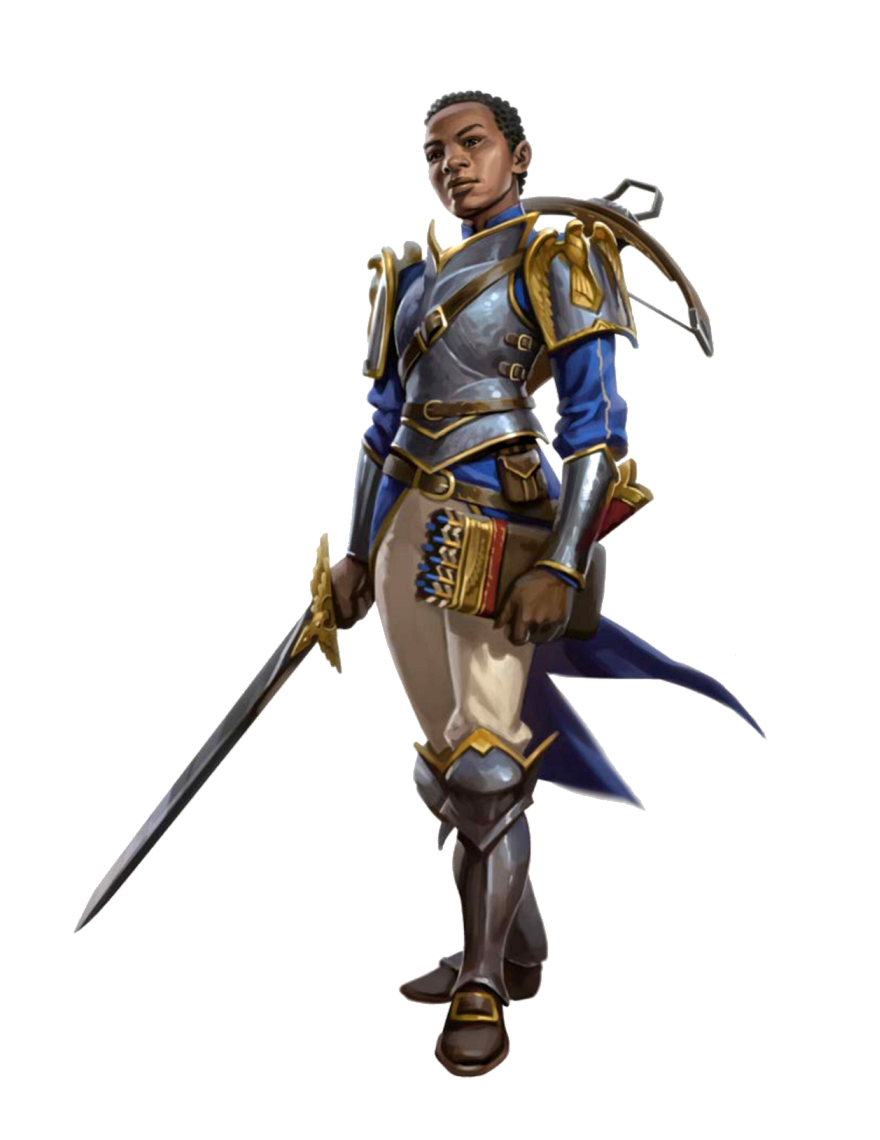 Female Human Eagle Knight Fighter Paladin - Pathfinder PFRPG DND D&D