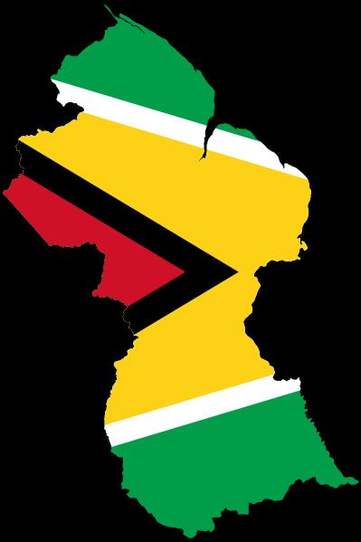 File Flag Map Of Guyana Svg Wikimedia Commons Guyana Food Guyanese Guyana