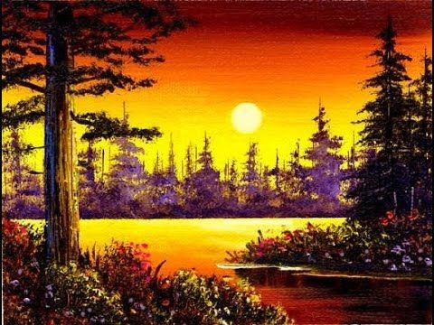 Crystal clear morning 4x6 small simple oil painting for Simple oil painting ideas