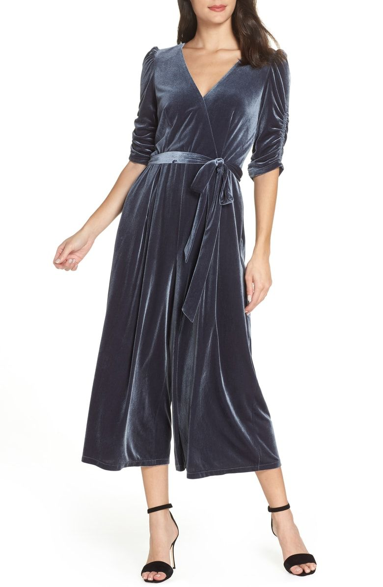 69105bc13a9 Free shipping and returns on Chelsea28 Velvet Culotte Jumpsuit (Regular   Plus  Size) at Nordstrom.com.  p Trade in your usual day dress for this lush  velvet ...