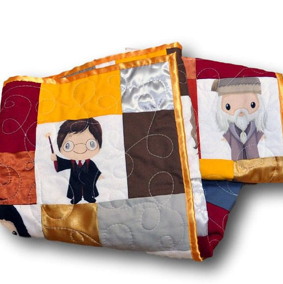 Harry Potter baby quilt-- handmade from custom fabric, too ...
