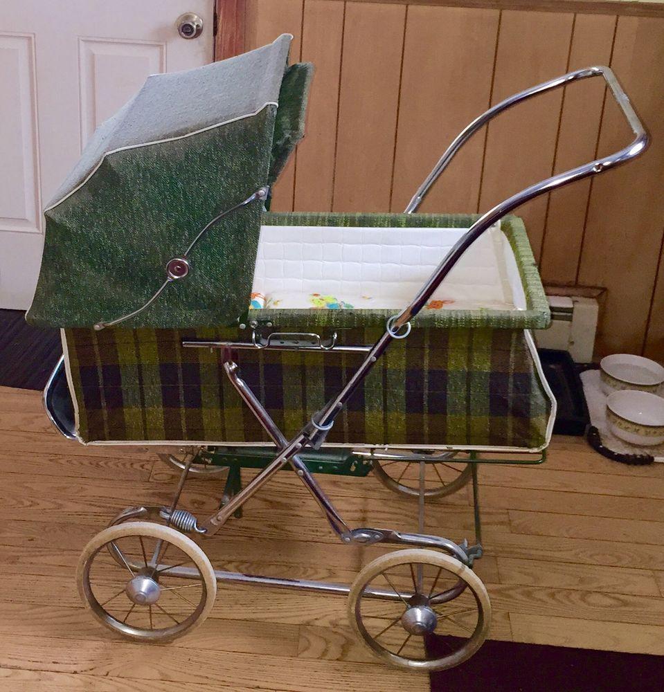 Vintage Rare Retro Hedstrom Baby Buggy Carraige Bassinet Stroller ...