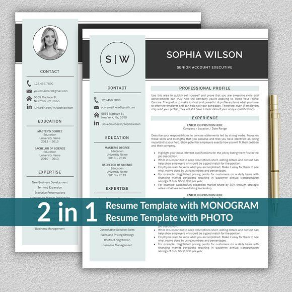 Resume CV Template by ProGraphicDesign on @creativemarket - resume pro