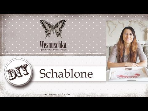 diy schablone selber machen shabby chic how do i make a stencil youtube selbermachen. Black Bedroom Furniture Sets. Home Design Ideas
