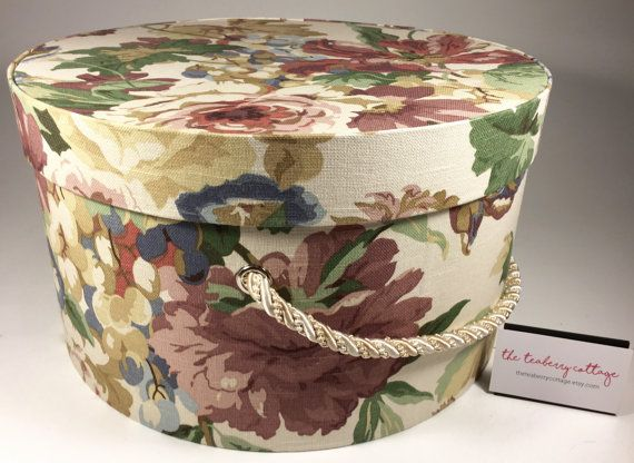Decorative Round Boxes Pleasing Extra Large Hat Box In Vintage Floral Round Box French Cottage Inspiration Design