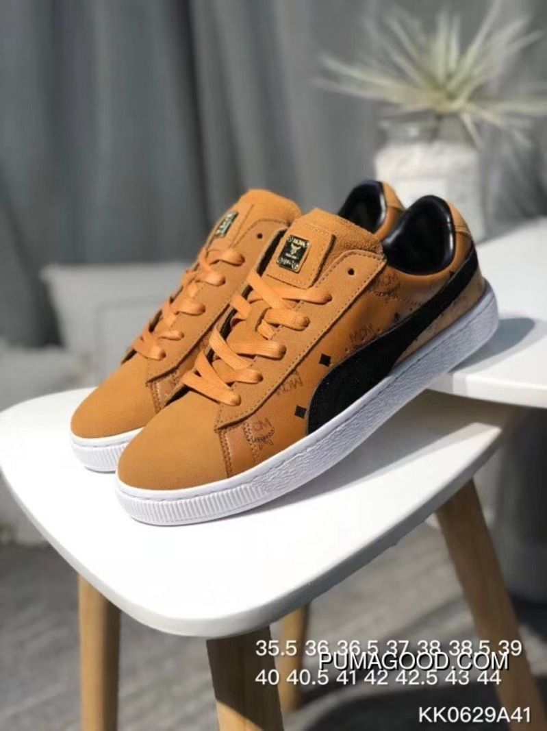 6c69844ae08e Puma Sneakers High German Luxury Brand Collaboration MCM X Suede For The  50th Anniversary Of The Classic All-match Star Series Sneakers MCM Brown  Black ...