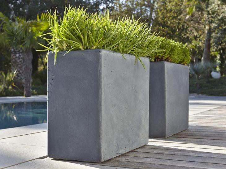 Poids Plume Pour Les Pots En Fibre Leroy Merlin Jardiniere Muret Pot De Fleurs Terrasse Jardin
