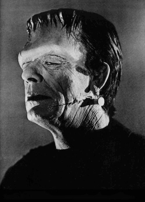 Glenn Strange as Frankenstein's Monster in Abbott... | Raiders of the Lost  Tumblr | Classic monster movies, Abbott and costello, Horror movie art