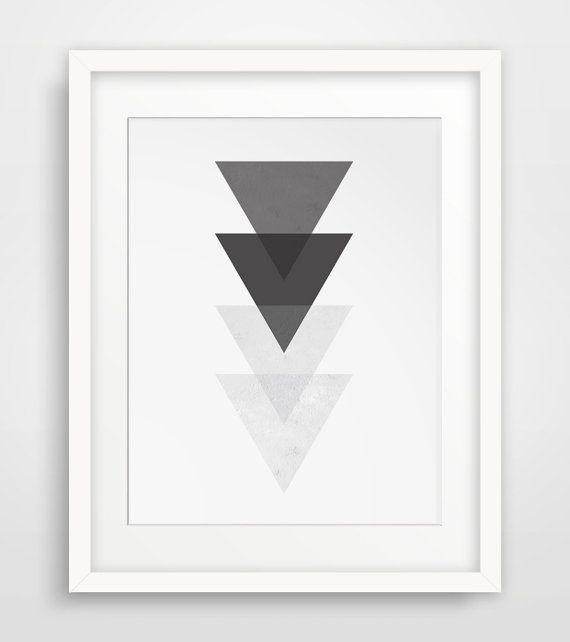 White Wall Art black and white wall art, printable geometric, geometric wall art